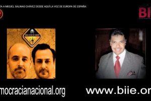 """Entrevista a Miguel Salinas Chávez desde """"Aquí la Voz de Europa"""" de España"""