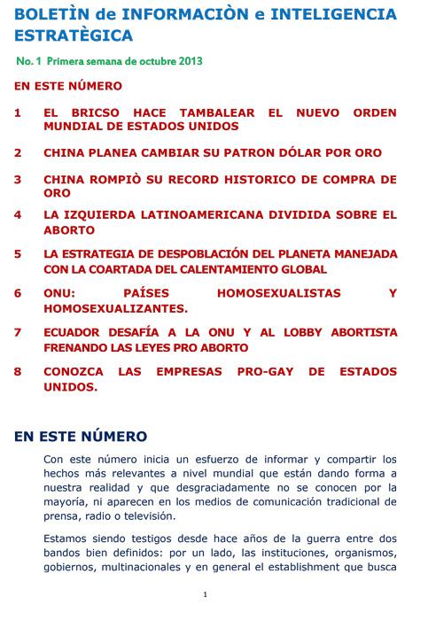 BIIE Vol.01 No.01 - Octubre 2013 Primera Semana