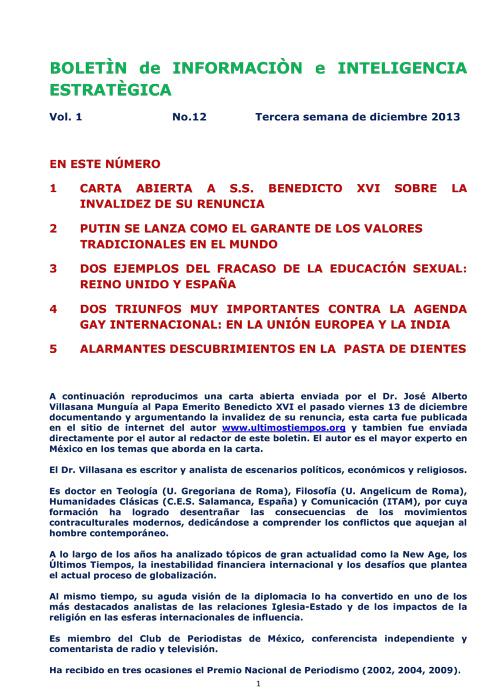 BIIE Vol.01 No.12 - Diciembre 2013 Tercera Semana