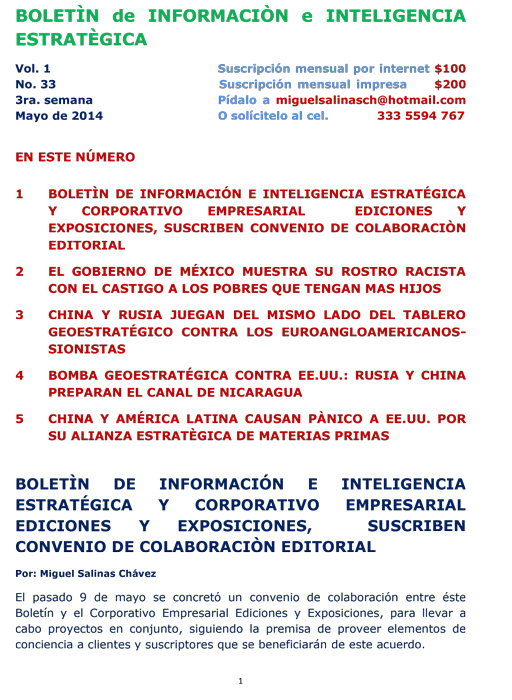 BIIE Vol.01 No.33 - Mayo 2014 Tercera Semana