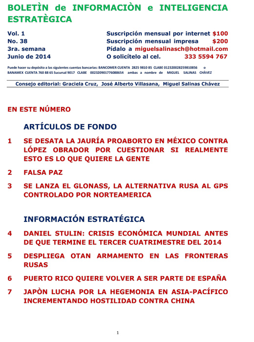BIIE Vol.01 No.38 - Junio 2014 Tercera Semana