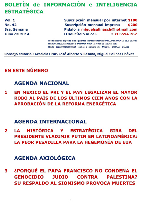 BIIE Vol.01 No.42 - Julio 2014 Tercera Semana
