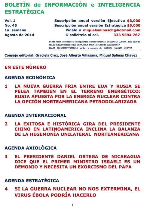 BIIE Vol.01 No.45 - Agosto 2014 Primera Semana