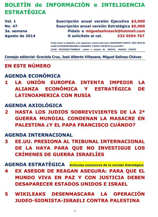 BIIE Vol.01 No.47 - Agosto 2014 Tercera Semana