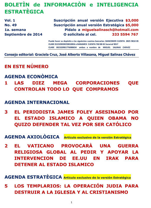 BIIE Vol.01 No.49 - Septiembre 2014 Primera Semana