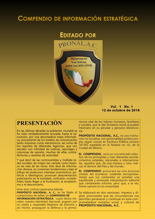Compendio de Información Estratégica Vol.01 No.01 – 12 de Octubre de 2018
