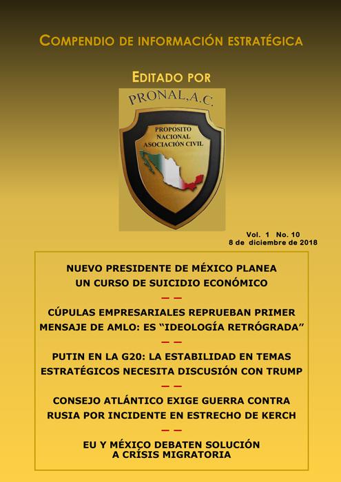 Compendio de Información Estratégica Vol.01 No.10 - 08 de Diciembre de 2018