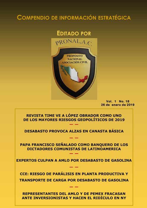 Compendio de Información Estratégica Vol.01 No.18 - 26 de Enero de 2019