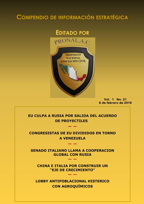 Compendio de Información Estratégica Vol.01 No.21 - 06 de Febrero de 2019