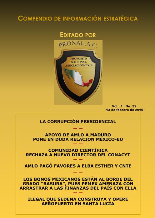 Compendio de Información Estratégica Vol.01 No.22 - 13 de Febrero de 2019