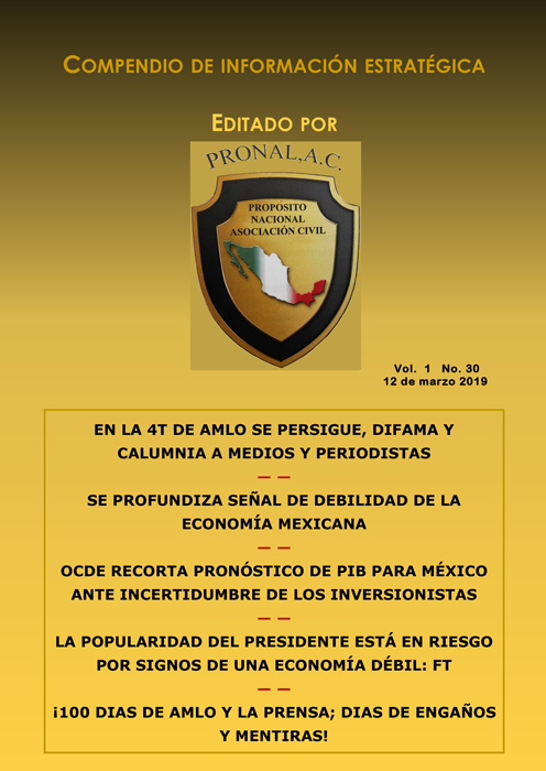 Compendio de Información Estratégica Vol.01 No.30 – 12 de Marzo de 2019
