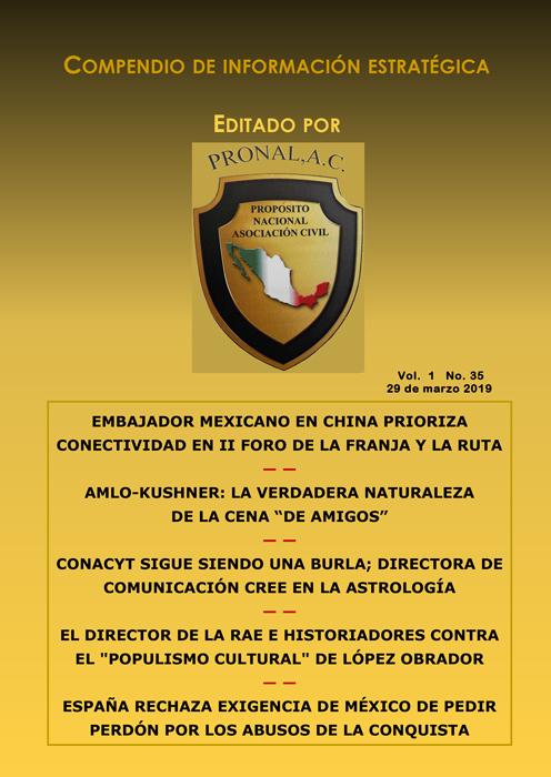 Compendio de Información Estratégica Vol.01 No.35 – 29 de Marzo de 2019