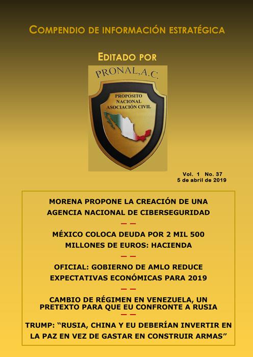 Compendio de Información Estratégica Vol.01 No.37 - 05 de Abril de 2019