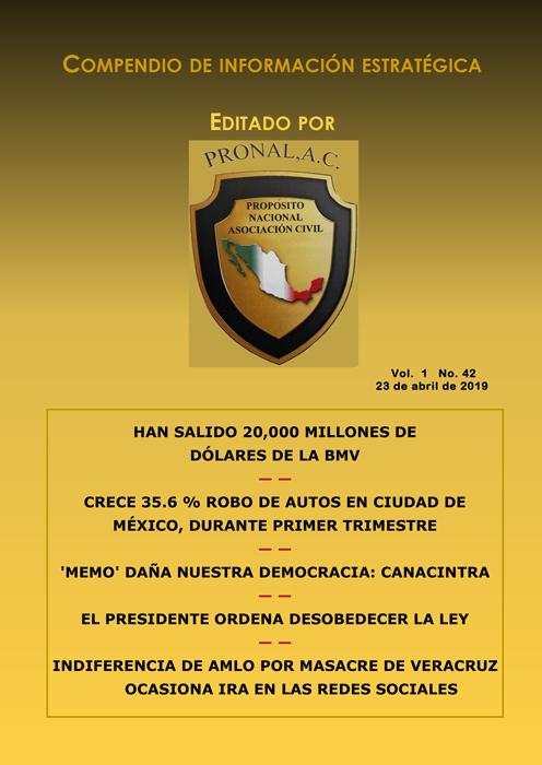 Compendio de Información Estratégica Vol.01 No.42 – 23 de Abril de 2019