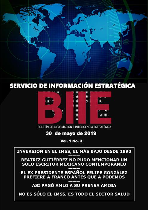 Servicio de Información Estratégica Vol.01 No.03 – 30 de Mayo de 2019