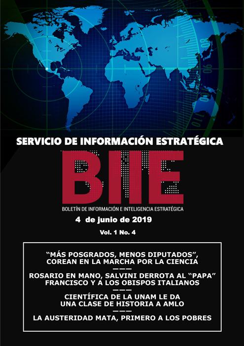 Servicio de Información Estratégica Vol.01 No.04 – 04 de Junio de 2019