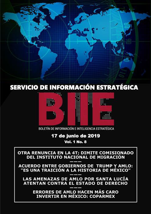 Servicio de Información Estratégica Vol.01 No.08 – 17 de Junio de 2019