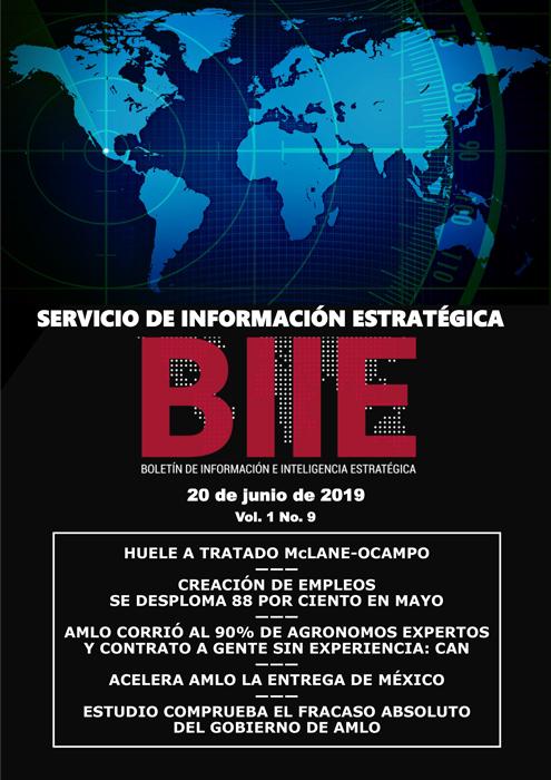 Servicio de Información Estratégica Vol.01 No.09 - 20 de Junio de 2019