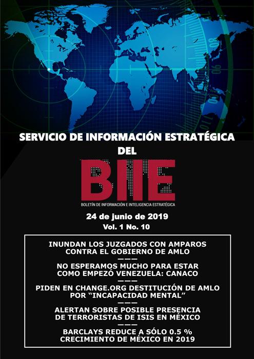 Servicio de Información Estratégica Vol.01 No.10 – 24 de Junio de 2019