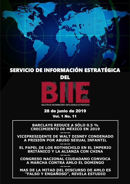 Servicio de Información Estratégica Vol.01 No.11 - 28 de Junio de 2019