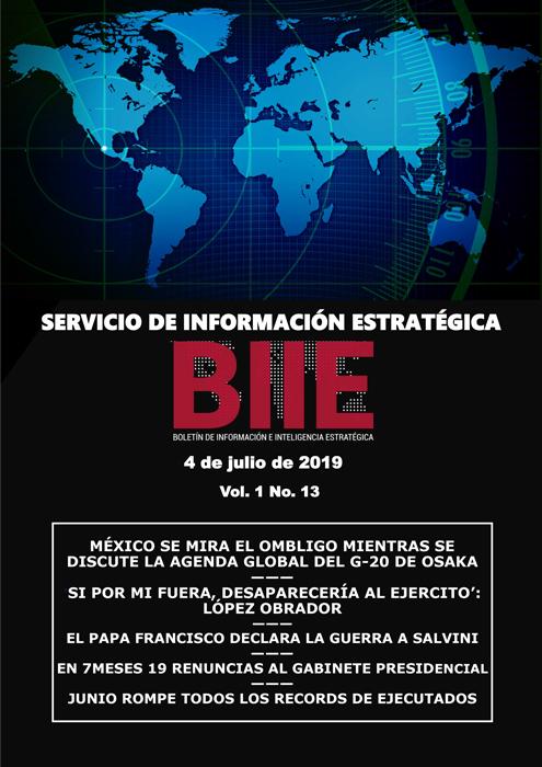 Servicio de Información Estratégica Vol.01 No.13 – 04 de Julio de 2019