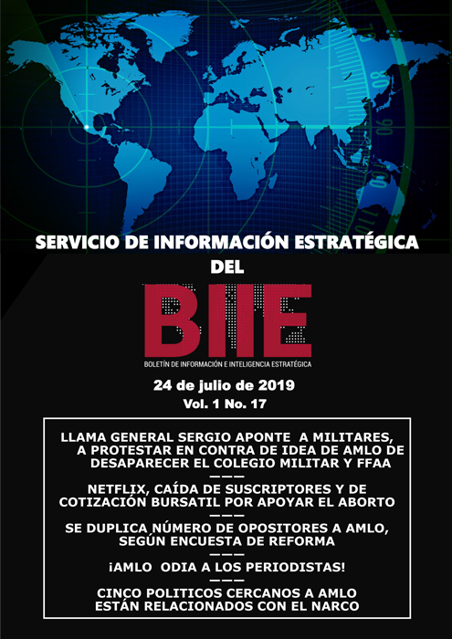 Servicio de Información Estratégica Vol.01 No.17 – 24 de Julio de 2019