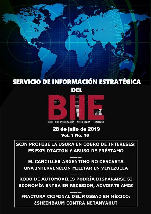 Servicio de Información Estratégica Vol.01 No.18 – 28 de Julio de 2019