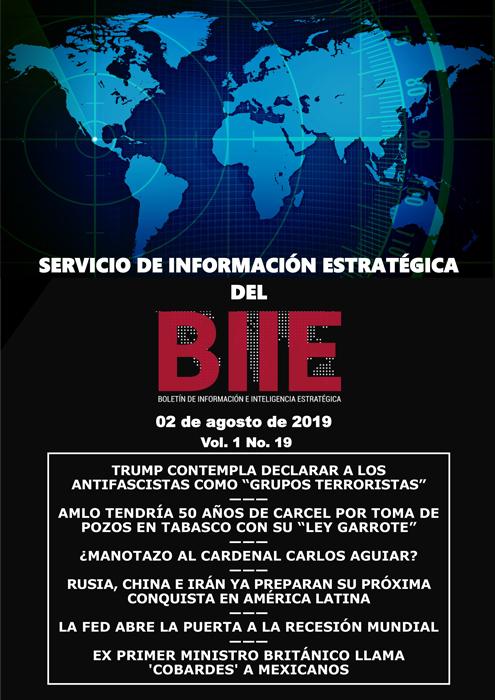 Servicio de Información Estratégica Vol.01 No.19 - 02 de Agosto de 2019