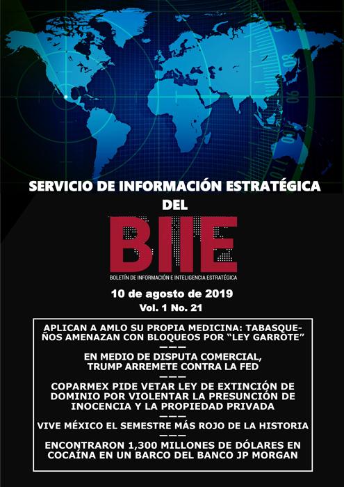 Servicio de Información Estratégica Vol.01 No.21 - 10 de Agosto de 2019