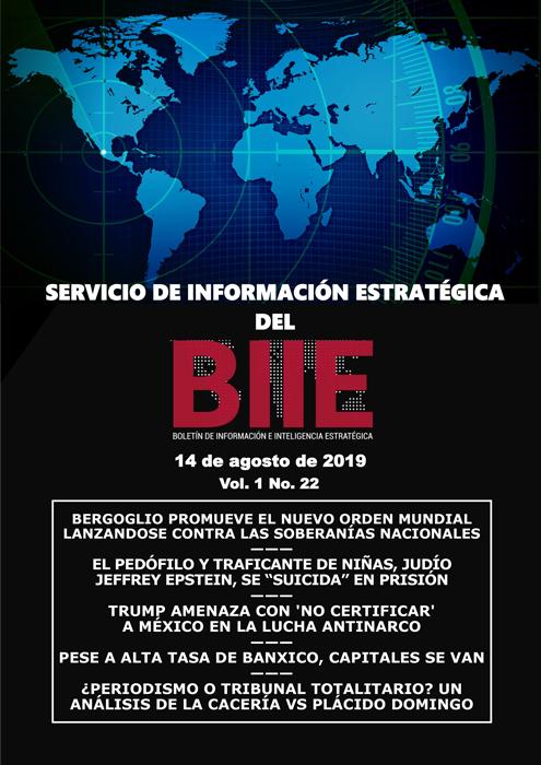 Servicio de Información Estratégica Vol.01 No.22 - 14 de Agosto de 2019