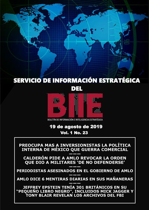 Servicio de Información Estratégica Vol.01 No.23 - 19 de Agosto de 2019
