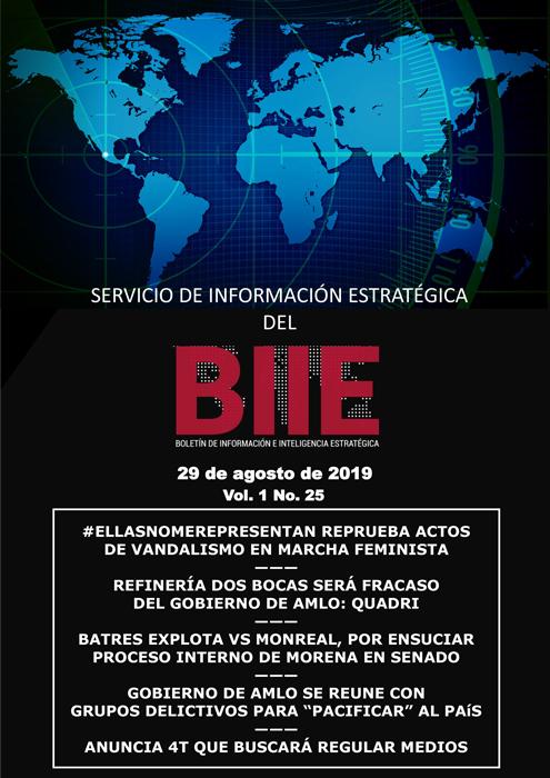 Servicio de Información Estratégica Vol.01 No.25 - 29 de Agosto de 2019