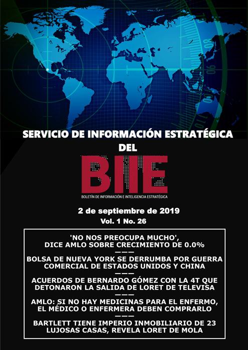 Servicio de Información Estratégica Vol.01 No.26 - 02 de Septiembre de 2019