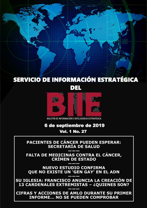 Servicio de Información Estratégica Vol.01 No.27 - 06 de Septiembre de 2019