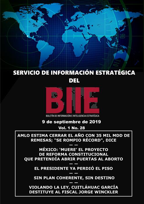 Servicio de Información Estratégica Vol.01 No.28 – 09 de Septiembre de 2019
