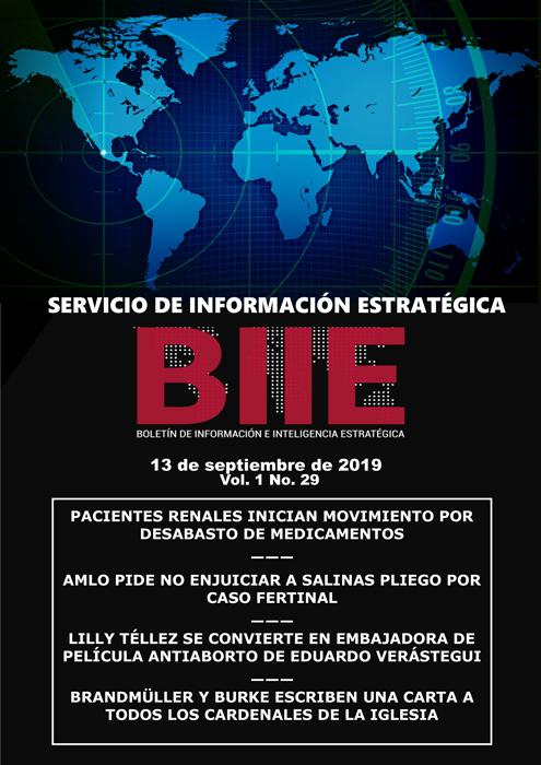 Servicio de Información Estratégica Vol.01 No.29 - 13 de Septiembre de 2019