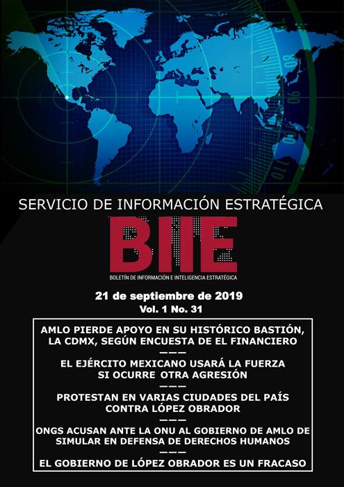 Servicio de Información Estratégica Vol.01 No.31 – 21 de Septiembre de 2019