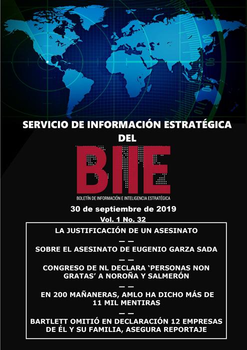 Servicio de Información Estratégica Vol.01 No.32 - 30 de Septiembre de 2019