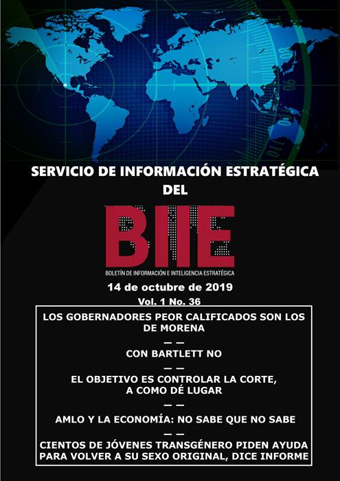 Servicio de Información Estratégica Vol.01 No.36 - 14 de Octubre de 2019