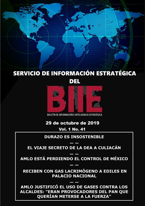 Servicio de Información Estratégica Vol.01 No.41 – 29 de Octubre de 2019