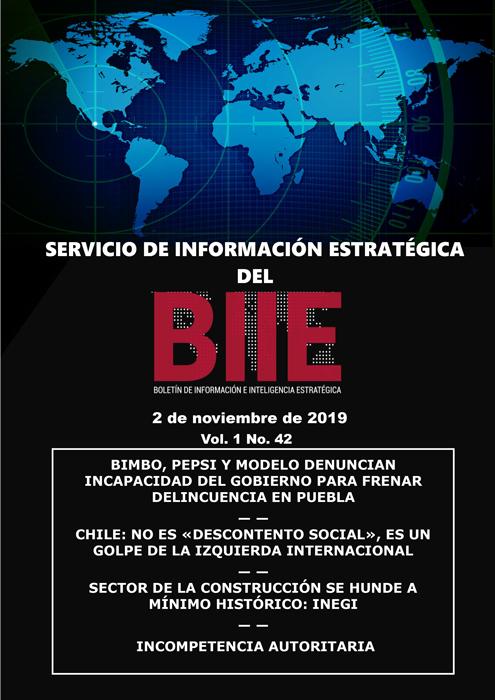 Servicio de Información Estratégica Vol.01 No.42 – 02 de Noviembre de 2019