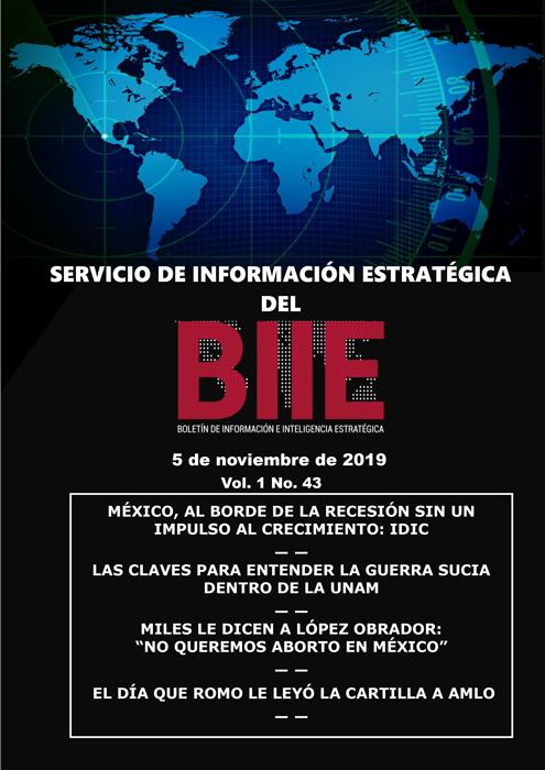 Servicio de Información Estratégica Vol.01 No.43 - 05 de Noviembre de 2019