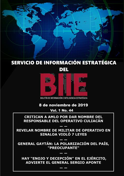 Servicio de Información Estratégica Vol.01 No.44 – 08 de Noviembre de 2019
