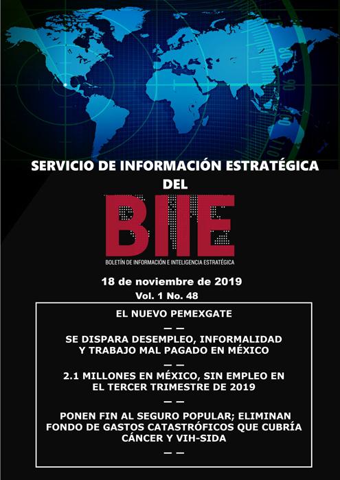 Servicio de Información Estratégica Vol.01 No.48 – 18 de Noviembre de 2019