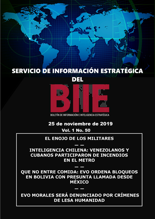 Servicio de Información Estratégica Vol.01 No.50 - 25 de Noviembre de 2019