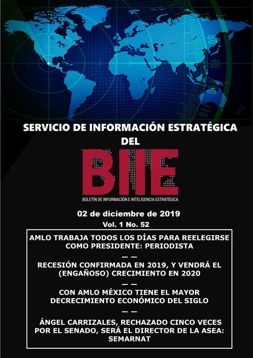 Servicio de Información Estratégica Vol.01 No.52 – 02 de Diciembre de 2019