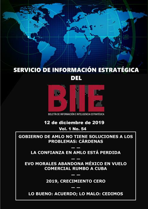 Servicio de Información Estratégica Vol.01 No.54 – 12 de Diciembre de 2019