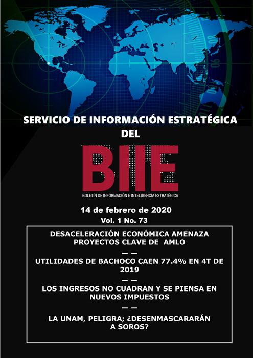 Servicio de Información Estratégica Vol.01 No.73 – 14 de Febrero de 2020