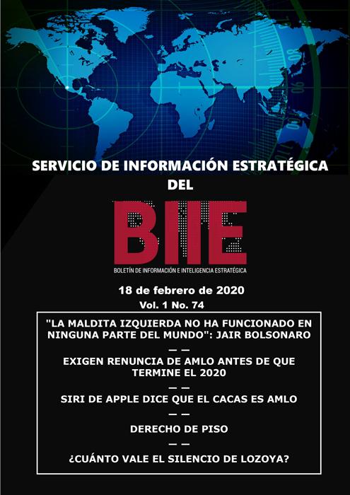 Servicio de Información Estratégica Vol.01 No.74 – 18 de Febrero de 2020