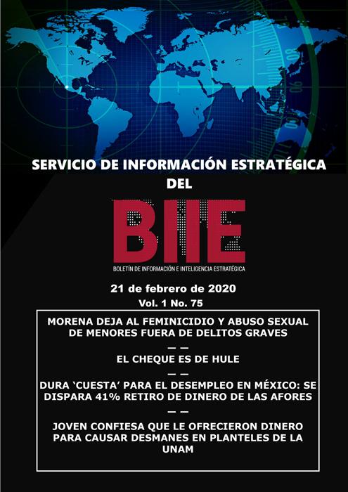 Servicio de Información Estratégica Vol.01 No.75 – 21 de Febrero de 2020
